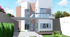 Sua fachada de estilo moderno com linhas simples e minimalistas é sua principal característica.  Possui garagem para dois carros, cob...