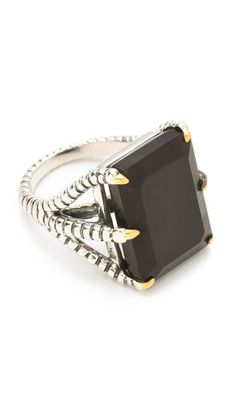 Elizabeth And James Bird Claw Ring with Onyx in Silver | Lyst