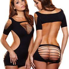 (Very) backless mini-dress - A&E