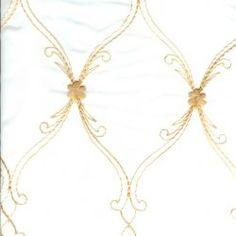 Golden Trellis Rental Linen  #PartyMosaic