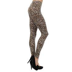 Leopard Print Leggings. #dress #fashion #pant #style 9thelm.com