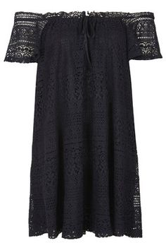 Lace Bardot Dress via topshop $68.00