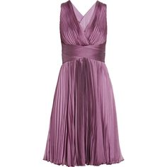 Halston Heritage Pleated chiffon dress ($465) ❤ liked on Polyvore