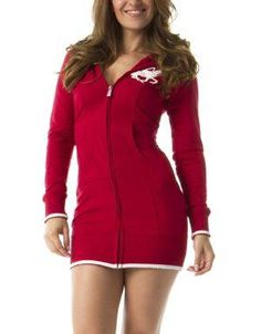 (CLICK IMAGE TWICE FOR DETAILS AND PRICING) Sporty Sweater Dress Red. This long sleeve sweater dress is perfect for the sporty individual in you. This sweater dress features a ribbed hem, functional pocket, and a ribbed waistline.. See More Mini Dress at http://www.ourgreatshop.com/Mini-Dress-C90.aspx