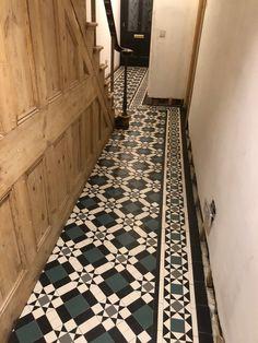 Victorian Hallway, Victorian Tiles, Victorian Decor, Tiled Hallway, Mosaic Tiles, Mosaics, Unique Tile, Geometric Tiles, Decorative Tile
