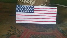 American Flag Hand Painted Wood Shelf Sitter by SignsandDesignsbyAMA on Etsy