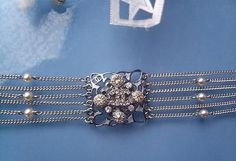 Original CHANEL Armband selten rar silber Perlen Kristalle Weihnachtsgeschenk