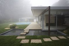 Beautiful mid century modern home with pool and floating steps