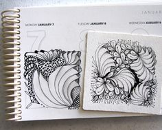 Open Seed Arts - great blog, tangles and the calendar is awesome to tangle in.