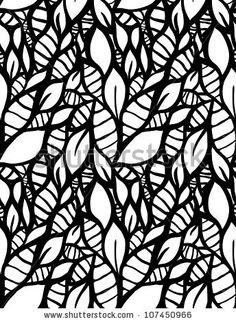 seamless leaf pattern. Raster.