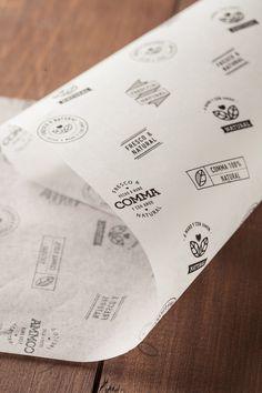 Paloma Nieri on Behance Burger Packaging, Bread Packaging, Bakery Packaging, Food Packaging Design, Packaging Design Inspiration, Branding Design, Packaging Dielines, Food Graphic Design, Food Poster Design