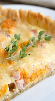 Sweet Potato, Ham and Swiss Tart