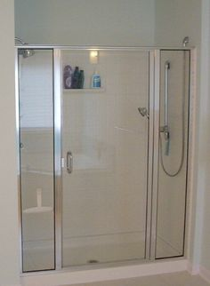 Prefab Walk In Shower With Hinged Gl Door Us White House