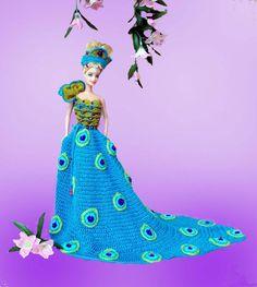 Image detail for -... hand crochet barbie dress dolls apparel barbie doll dresses handmade