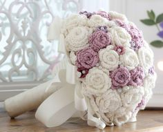 Image result for crochet knitted bridal bouquets