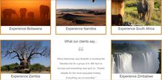 check out the Africa Memories Travel web page to book your holidays now ! #africa #safari #travel #elephant #airBalloon  #baobab #victoriafalls #safarivehicle #mountains #rainbows