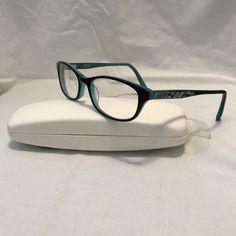 b25f5dbcf73 Details about Converse All Star Black Teal Floral Prescription Eyeglasses  Frames 50-16-135