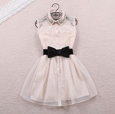 Fashion bow belt dress #082104ED