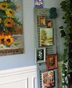 I know I have an old shutter out in the shed.  I need to dig it out, I love this idea!