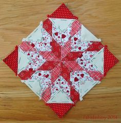 Nearly Insane Quilt - Block 45 (English paper piecing) from the Fabadashery