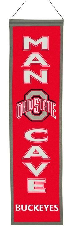 Ohio State Buckeyes Wool Man Cave Banner - Where The Fans Shop Ohio State University, Ohio State Buckeyes, Gifts For Teens, Gifts For Dad, Painting Metal Cabinets, Sister In Law Birthday, Ultimate Man Cave, Gift Baskets For Men, Gift Quotes