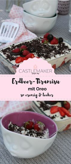 Tasty strawberry tiramisu recipe with Oreo in the lightweight version // Sweepstakes - Cake Recipes Oreo Cake, Cake Cookies, Strawberry Tiramisu, Tiramisu Recipe, Eat Dessert First, Cake Recipes, Sweet Treats, Food And Drink, Blog