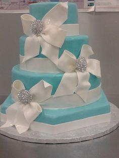 #Tiffany Blue Wedding ... Tiffany Blue wedding cake