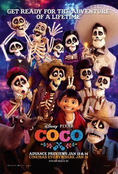 Poster for Pixar's Coco in the UK