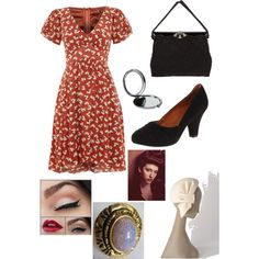 Darcy Lewis Science Theater by kathysinister on Polyvore featuring Jolie Moi, Gentle Souls, Hattie Carnegie, John Lewis, women's clothing, women's fashion, women, female, woman and misses