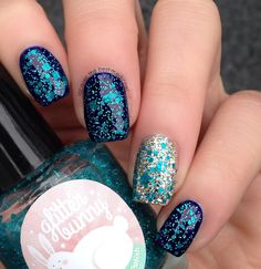 Glitter Bunny Polish | Don't Be Such A Guppy