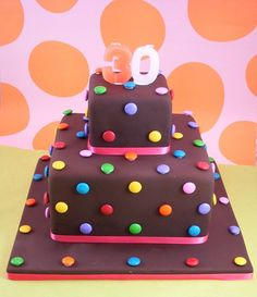 Smarties cake!