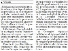 """SCRIVOQUANDOVOGLIO: GIORNALISTI,ORDINE IN CAMPO """"STOP AI CORSI NON AUT..."""
