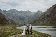 This amazing photo from an elopement in Scotland has us dreaming of a wedding in the mountains.
