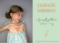 StraightGrain. A blog about sewing: Saudade Sundress: FREE pattern release and GIVE-AWAY
