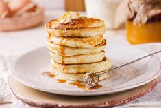 These yogurt pancakes are fluffy and pack tons of fabulous flavor. Fix up this e… These yogurt pancakes are fluffy and pack tons of fabulous flavor. Fix up this easy recipe for breakfast, dinner, or add sweet toppings for dessert! Sweet Pancake Recipe, Pancake Recipe With Yogurt, Yogurt Pancakes, Pancakes Easy, Breakfast Pancakes, Breakfast Snacks, Pancakes And Waffles, Breakfast For Dinner, Breakfast Recipes