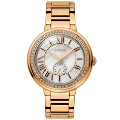 Reina V Women's Red Carpet Mini Watch (Two tone silver and gold) Crystal Rose, Michael Kors Watch, Gold Watch, Vogue, Rose Gold, Watches, Steel, Crystals, Bracelets