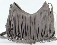 Grey Boho Fringe Purse ~ Suede tassel messenger Something for everyone who is serious about what they do & about life.  http://monopolymediamarketing.com/other-links/