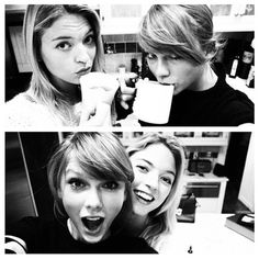 Karlie Kloss, Martha Hunt and Taylor Swift looks like they're having tons of fun in Taylor's Hourse!