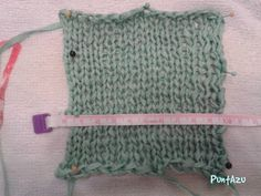 Técnica de bloquo de una prenda tejida. Todos los detalles