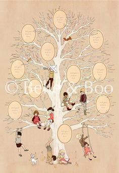 Belle and Boo Family Tree Poster -