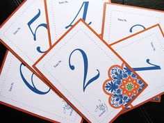 Talavera Tile Table Numbers 1 to 20  Wedding by TheBestDIYInvites, $30.00