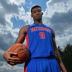 Tony Mitchell of the Detroit Pistons poses for a portrait during the 2013 NBA Rookie Photo Shoot on August 6, 2013 at the MSG Training Facility in Tarrytown, New York. (Photo by Jesse D. Garrabrant/NBAE via Getty Images)