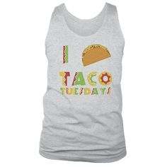 I Love Taco Tuesdays Muscle Tee | Cinco De Mayo Tank Top by NSNP