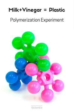 Milk & Vinegar Plastic #ScienceExperiment #STEM #rookieparentingscience