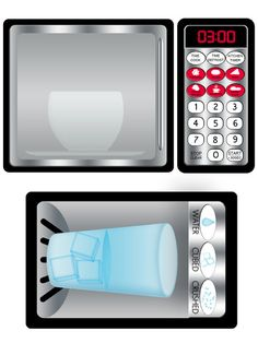 DIY Play Kitchen Printable Stainless Refrigerator and Microwave Decals Instant Download