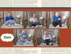 This is a fun way to document the growth of babies.