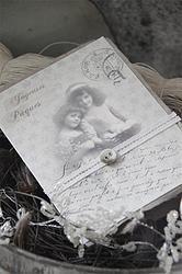 Jeanne d'Arc Joyeuses Pâques - EASTER Card dbl