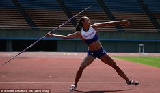 Ennis-Hill, who is at a training camp in Fukuoka, Japan, works on her javelin technique ahead of the event Jessica Ennis, Javelin Throw, Sports Drawings, Soccer Photography, Action Poses, Woman Drawing, Sports Photos, Track And Field, Female Athletes