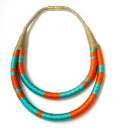Ethnic inspired statement rope necklace by Beata Te