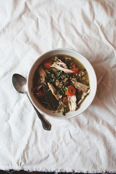 chicken + barley soup